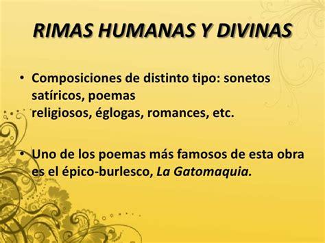 rimas humanas y divinas el barroco i