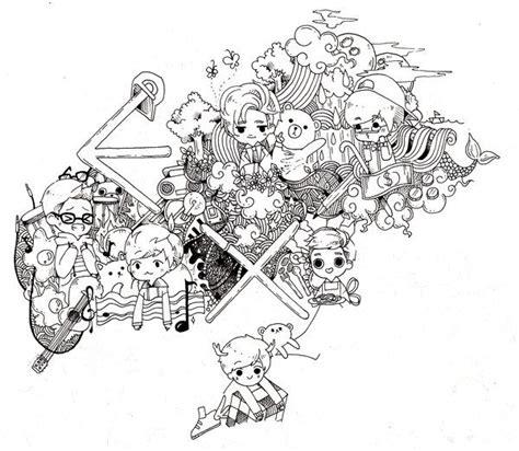 exo doodle wallpaper exo fanat chibi exo fanart pinterest chibi exo