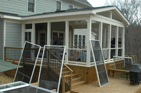 Screened Patio Designs Screened In Porch Ideas Porch Is Smaller We Don T Want A Knee Wall Will Use Ezebreeze