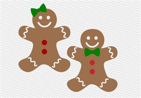 gingerbread man cookie svg clipart cut files silhouette cameo