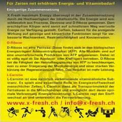 d ribose energy drink x fresh energy drink