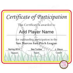 templates for softball certificates image gallery softball certificates
