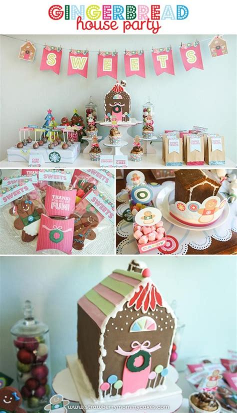 house party ideas gingerbread house party with such cute ideas via kara s