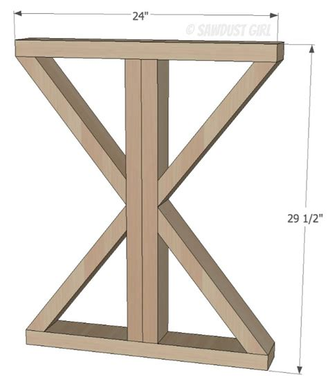 diy table with x legs diy x base dining table free woodworking plans sawdust