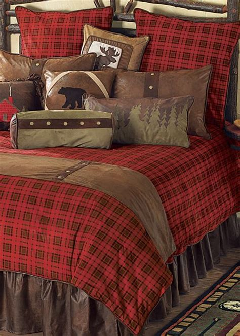 cabin bedding gunnison plaid log cabin bedding rustic home decor pinterest