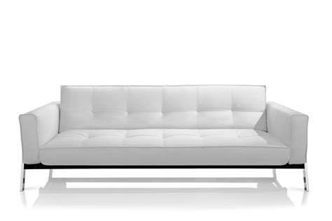 White Sofa Modern Splitback Modern Sofa Bed W Arms Stainless Steel Legs Innovation