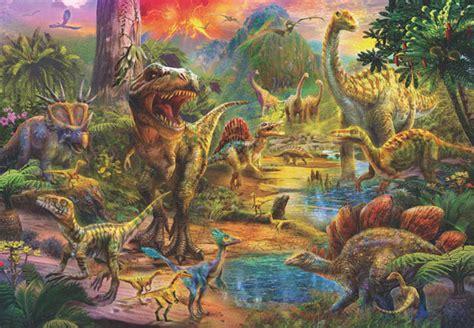 500 Jigsaw Puzzle Dinosaurs landscape of dinosaurs jigsaw puzzle 500 by anatolian