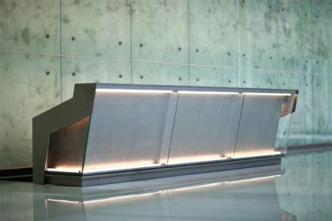Metal Reception Desk Reception Desk In Stainless Steel With Mist Finish At 1999 K Washington D C