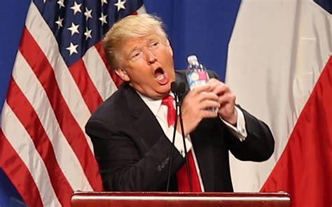 donald trump water marco rubio vs donald trump the choker vs the con