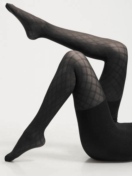patterned tights control top spanx diamondpattern control top tights in black lyst