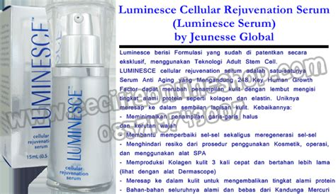 Serum Wajah Luminesce luminesce by jeunesse global indonesia