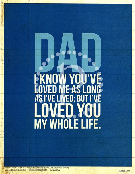 fathers day quotes pebbles in my pocket s day quotes