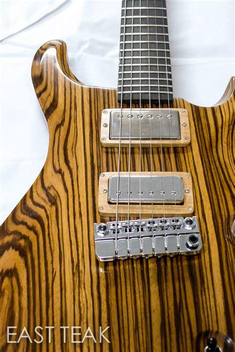 Matt's Zebrawood PVX Guitar Build   East Teak