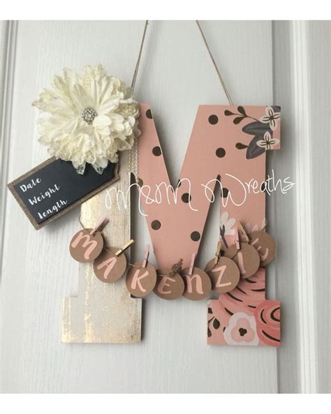 Monogram Decorations For Bedroom Best 25 Baby Door Hangers Ideas On Pinterest Baby Door