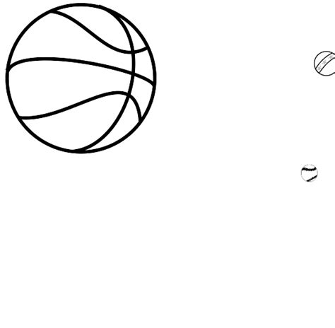Coloring Ball Clipart Best Free Balls Coloring Pages