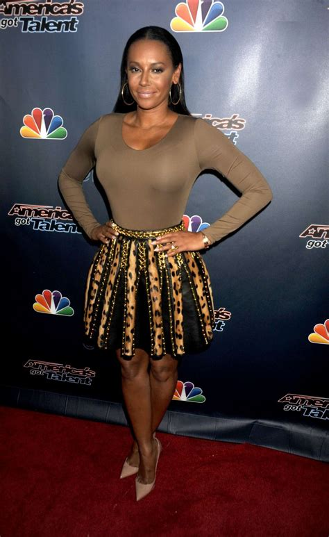 Catwalk To Carpet Melanie Brown In Rm By Roland Mouret by Melanie Brown Americas Got Talent Post Show Carpet