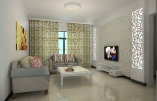 simple livingroom simple living room tv wall and curtains 3d house