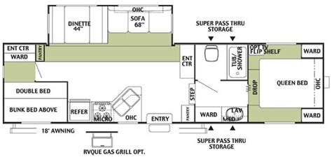 2004 Forest River Wildwood Floor Plans 2004 forest river wildwood le east coast fifth wheel