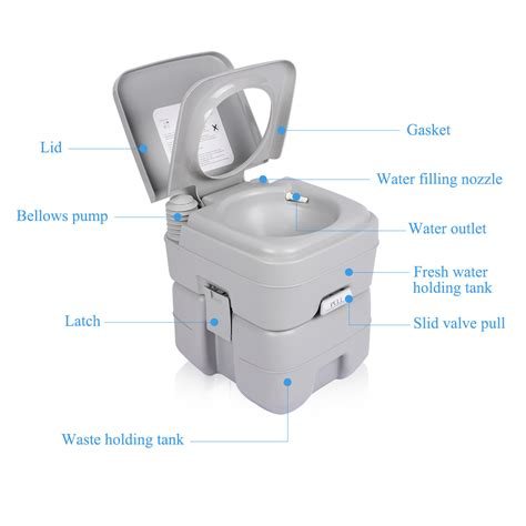 indoor portable toilet 5 gallon 20l portable toilet flush travel outdoor indoor