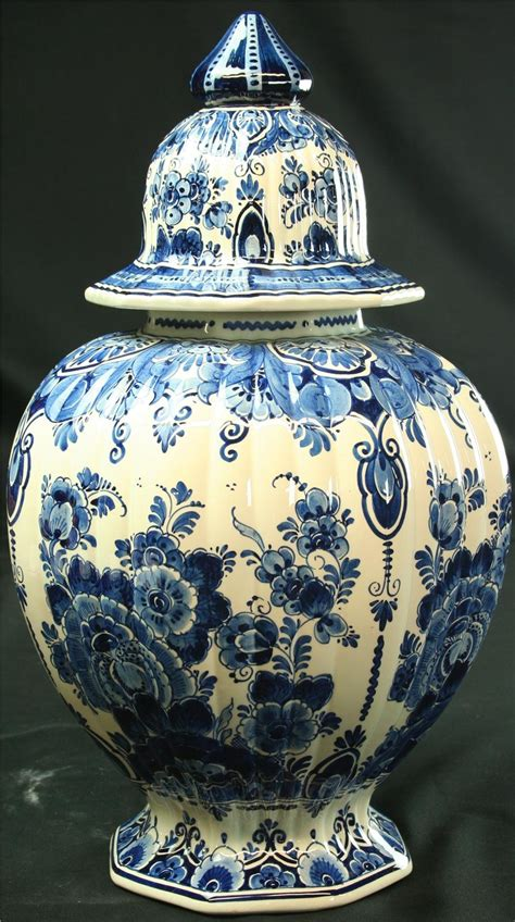 ginger jar vase vintage large blue delft ginger jar vase hand painted
