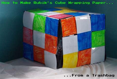 tutorial rubik 3x3 bag 2 how to make rubik s cube wrapping paper totally
