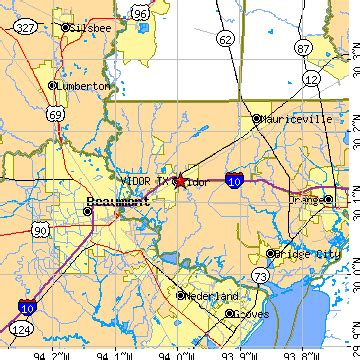 map of vidor vidor tx population data races housing economy
