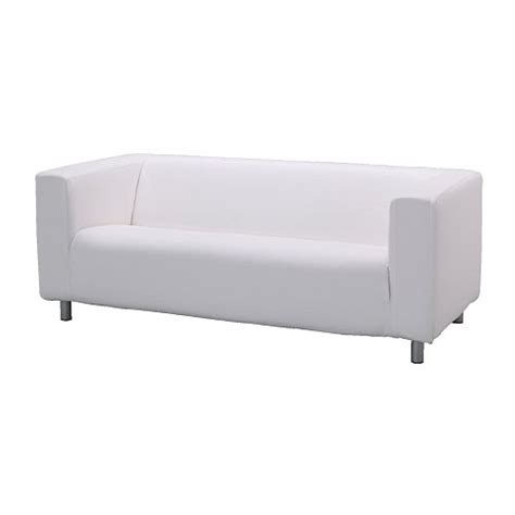 white couch ikea klippan two seat sofa alme white ikea