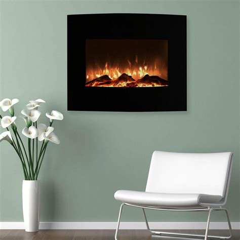 northwest   mini curved electric fireplace  wall