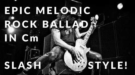 video backing track in g major style slash epic slash style melodic rock ballad guitar backing track
