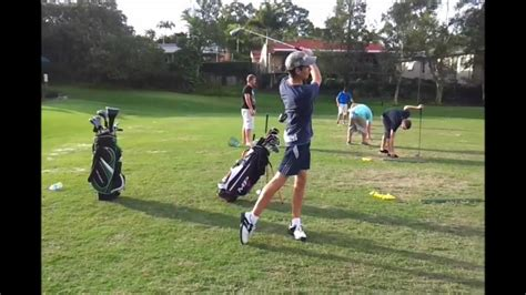 right side golf swing nick s right sided golf swing youtube