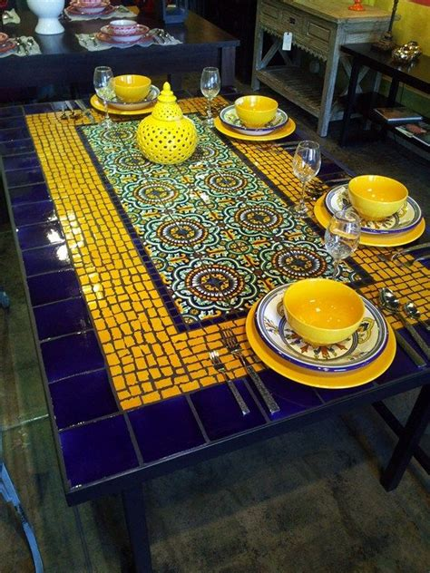 mosaic tile kitchen table best 25 mosaic tile table ideas on tile