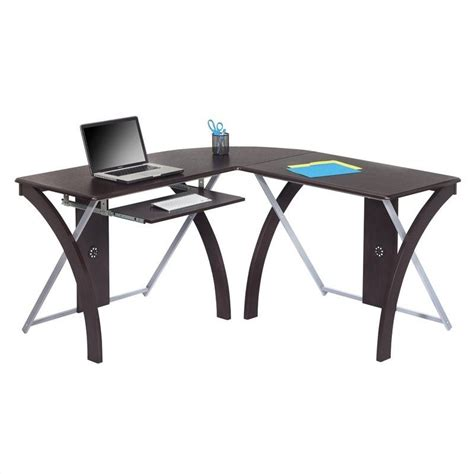 L Shaped Computer Desk In Espresso Xt82l