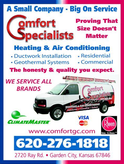 comfort specialists inc comfort specialists inc garden city ks 67846 yellowbook