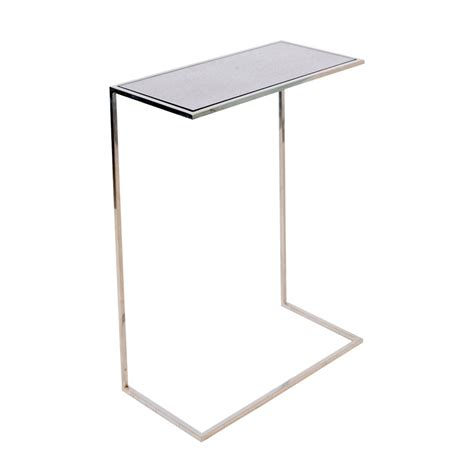 Cigar Table by Worlds Away Nickel Plated Cigar Table With Antique