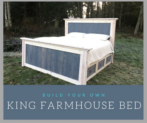 farmhouse king bed diy king farmhouse bed plans reconstruction life