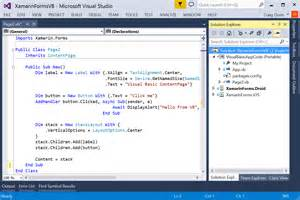 Vb Net Form Templates by Mobile Apps With Visual Basic Xamarin Forms Xamarin