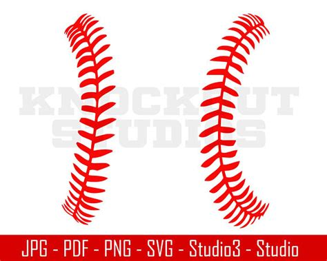baseball stitches svg baseball svg baseball sports svg