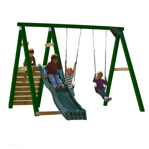 complete swing sets swing n slide playsets pine bluff wood complete play set