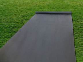 installing landscape fabric for