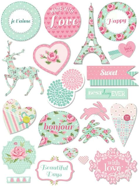 printable stickers cute pastel sticker printable planner pinterest mint