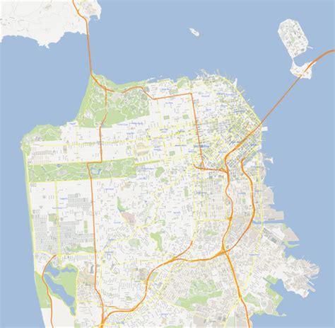 san francisco map vector free scalablemaps vector maps of san francisco pdf ai