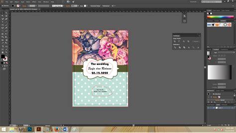 desain undangan pernikahan tinggal edit cara membuat cover depan undangan pernikahan model 3