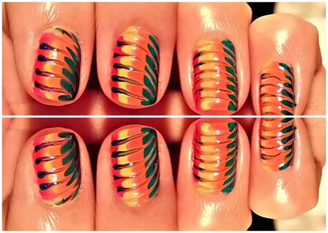 easy nail art no tools rainbow nails art easy nails designs no tools