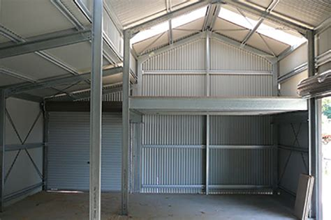 Shed Mezzanine by Steel Shed Optional Extras Totally Sheds