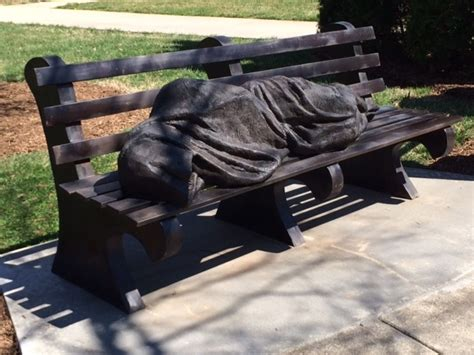 homeless jesus on park bench homeless jesus statue