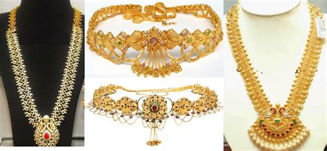 2 in 1 gold necklace and vaddanam designs