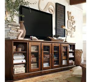 Large Media Cabinet With Doors Pottery Barn Tv Stand Dyi Decor Frontroom Tv Discover Best Ideas About