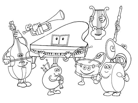 Coloring Pages Musical Instruments free coloring pages of musical instruments