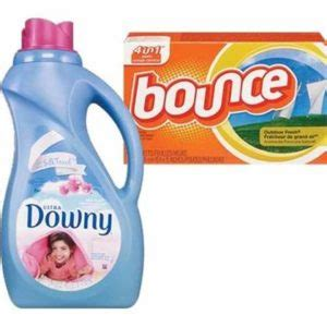 printable bounce fabric softener coupons bounce dryer sheets and downy fabric softener 1 95 each