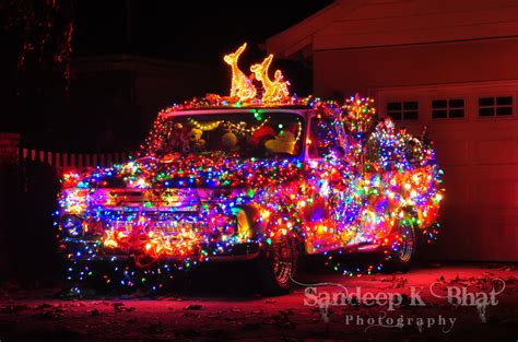christmas truck christmas lights on an old ford pickup